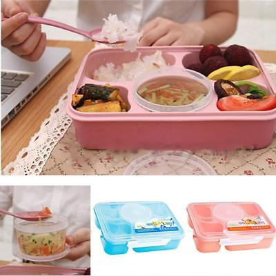 AU Microwave Bento Lunch Box Picnic Food Fruit Container Storage For Kids Adult
