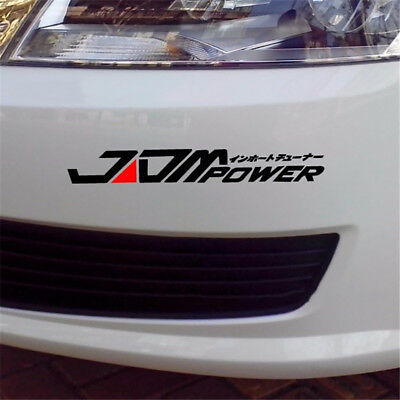 Universal JDM Power Car Sticker Racing Window Bumper Decor Bumper Decal Vinyl