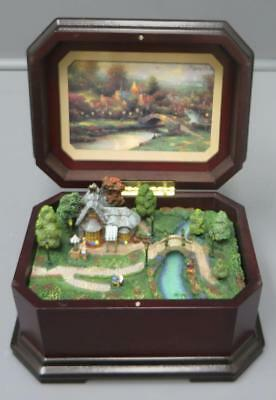2003 Thomas Kinkade Pleasant Journeys Music Box Long And Winding Road