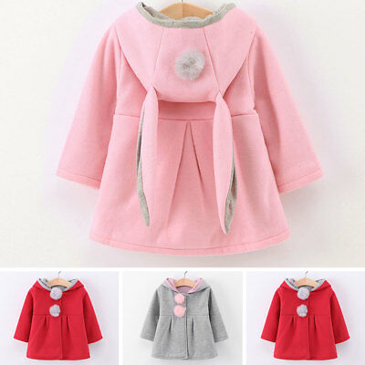 Hot Baby Girl Cotton Jacket Coats Children Hooded Outerwear Warm Outfit Clothes