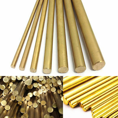 4/8/12mm Brass Round Bar Hardware Circular Tube Machining Rod Lathe Mill Gold