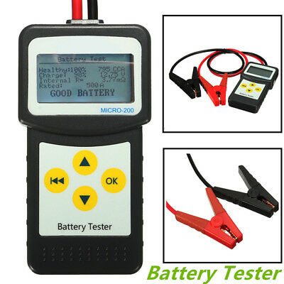 Portable MICRO-200 12V Car Battery Load Tester Battery Analyzer 30-200Ah Durable