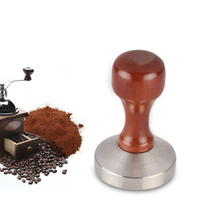 51mm/53mm/57mm/57.5mm/58mm Coffee Tamper Wood Espresso Base Press Waterproof