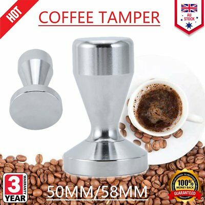 51MM/58MM Coffee Tamper Stainless Steel Polished Tampa Tamp Espresso Barista 0JF