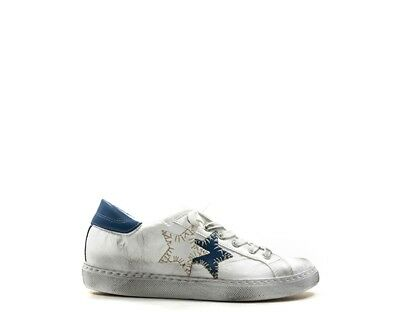 SCARPE 2 STAR Donna Sneakers Trendy BIANCO Pelle naturale 2SD1802S ... ace4bbab516