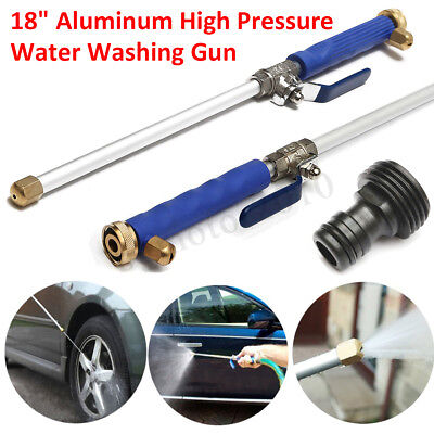 High Pressure Power Washer Water Spray Gun Wand Attachment w/ Nozzle Hose Garden