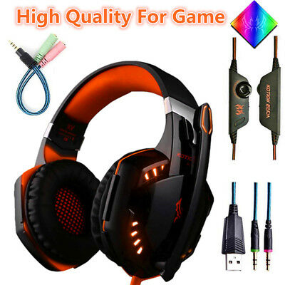 3.5 G2000 Gaming Headset MIC LED Headphones for Xbox One Laptop for PS4 360 PC