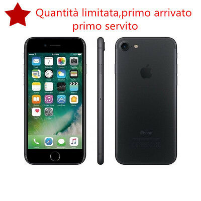 APPLE IPHONE 7 128GB BLACK NERO OPACO GARANZIA 12 MESI NUOVO Smartphone ITALIA