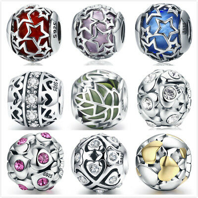 BAMOER Popular European 925 Sterling Silver Charm Bead Fit Bracelet to Christmas