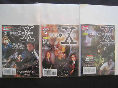 THE X FILES COMIC DIGEST issues 1,2,3. GRAPHIC NOVELS.MULDER, SCULLY. TOPPS.1995