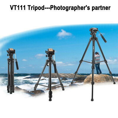 VT111 Professional Fluid Head Tripod Pro Heavy Duty For DSLR Camera Camcorder DV