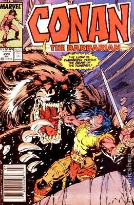 Conan the Barbarian (Marvel) Mark Jewelers #220MJ 1989 VF 8.0 Stock Image