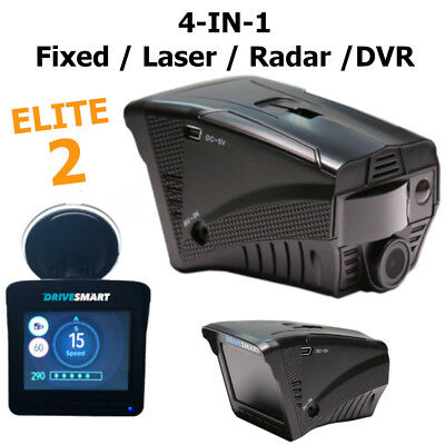 New Drivesmart Elite 2 Radar Laser Gps Speed Camera Detector And Dvr Dash Cam