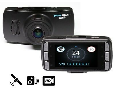 Drivesmart Pro HD GPS Speed Camera Detector and DVR Dash Cam 2 In 1 Combined