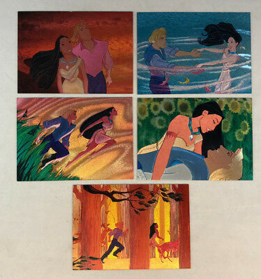 POCAHONTAS Disney (Skybox 1995) Complete FOIL ETCHED Chase Card Set of 5