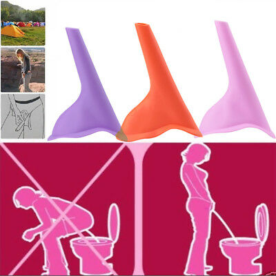 3xWomen Female Portable Urinal Outdoor Travel Stand Up Pee Urination Device Case