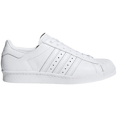 Adidas Superstar 80s Leather Retro Low-Top Sneakers Mens Trainers