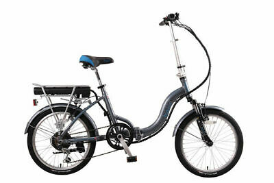 "Basis Osprey 20"" Wheel 6 Speed 250W 36V Folding Electric Bike With Suspension"