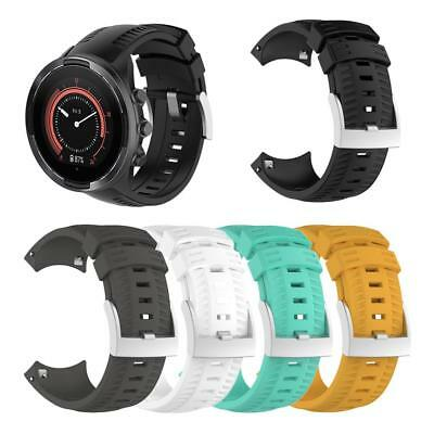 Replacement Silicone Wrist Band Strap Watchband Buckle for Suunto 9 Sports Watch