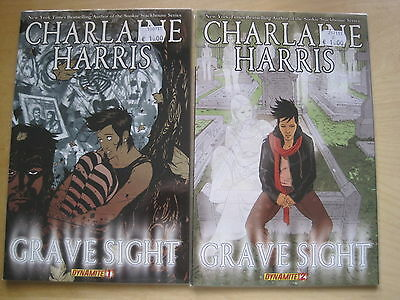 CHARLAINE HARRIS,GRAVE SIGHT :BOOKS 1,2. AUTHOR of SOOKIE STACKHOUSE. TRUE BLOOD