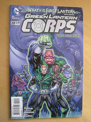 GREEN  LANTERN CORPS  20  by TOMASI & PASARIN. DC THE NEW 52. 2012