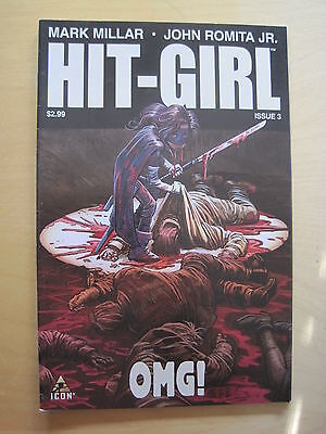 HIT - GIRL # 3. KICK - ASS. By MARK MILLAR & JOHN ROMITA JR.  ICON. 2012