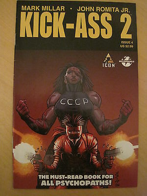 KICK - ASS  2  #  4  by MARK MILLAR & JOHN ROMITA JR.  ICON. 2011