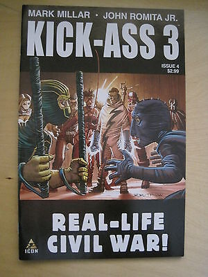 KICK - ASS  3 : # 4  by MARK MILLAR & JOHN ROMITA JR. ICON. 2013
