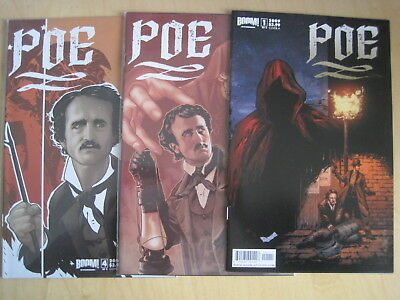 POE ( Edgar Allan ) : issues 1, 3, & 4 of 4 issue 2009 Boom series. All cover A