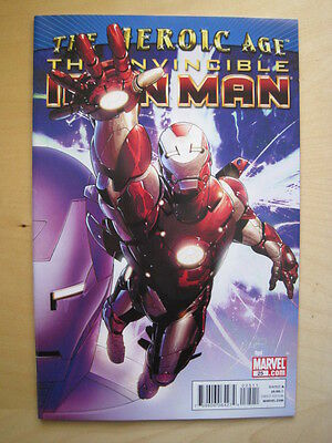 THE INVINCIBLE IRON MAN  25. THE HEROIC AGE. By FRACTION & LARROCA. MARVEL  2010