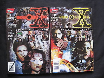 THE X FILES SPECIAL EDITION #s 1 & 2. MULDER, SCULLY. TOPPS. 1995