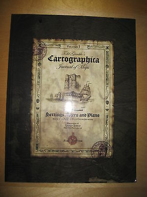 """Todd Gamble's """"CARTOGRPHICA"""". JOURNAL OF MAPS; SETTINGS, SITES & PLANS. 62 pages"""
