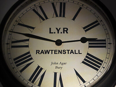 Lancashire & Yorkshire Railway Styled Waiting Room Clock, Rawtenstall Station