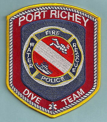 Port Richey Florida Police Fire Dive Rescue Team Patch