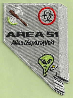 Area 51 Nevada Alien Disposal Unit Patch