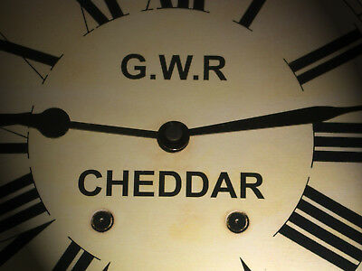 Great Western Railway, GWR Victorian Style Waiting Room Clock, Cheddar Station.
