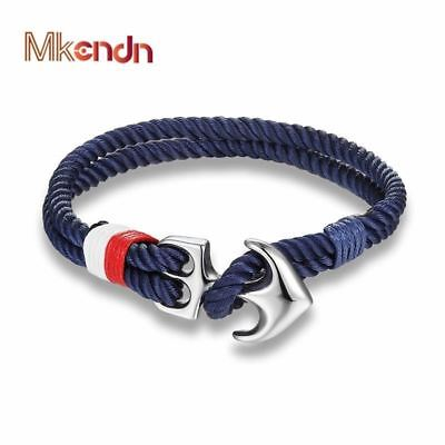 High Quality Anchor Bracelets Men Charm Nautical Survival Rope Chain Paracord Br