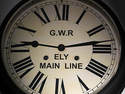 Great Western Railway, GWR Victorian Style Waiting Room Clock, Ely Main Line.