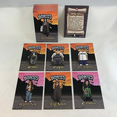 "HOMIES (Neca/2004) ""SWAP CARDS"" COMPLETE TRADING CARD SET (all 72)"