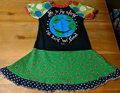 862928eed0f GIRLS DRESS 5 6 upcycled Christmas outfit 5T 6X -  16.00