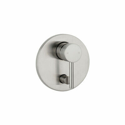 New brushed Nickel round WALL Shower MIXER with diverter Tap Handle