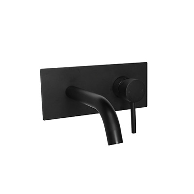 New Black Square WALL MIXER Basin Bath TAP  Bathroom vanity tapware