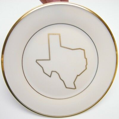 """1 Lenox Eternal States Texas 8"""" Salad Plate Dimension Collection Gold Trim"""