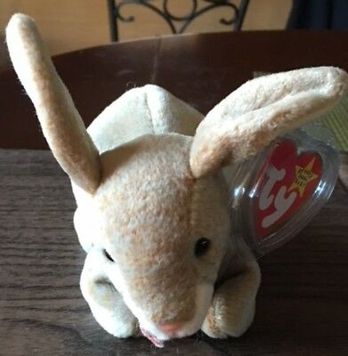 This Is A TY Beanie Baby Nibbly The Rabbit 1999 Retired Smoke Free With All Tags