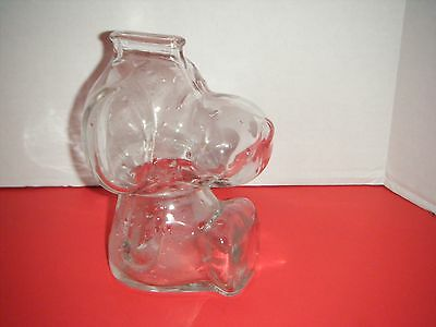 Anchor Hocking Clear Glass SNOOPY Coin Bank