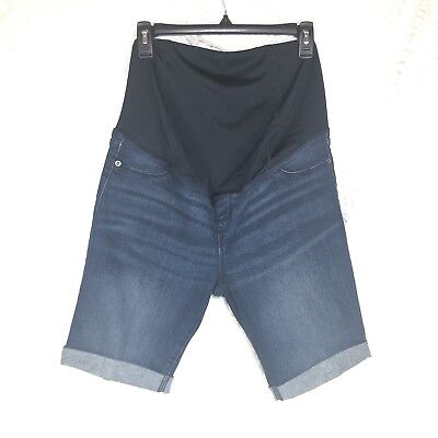 e1c8e078cfbfd Ingrid Isabel Maternity Jean Denim Shorts Crossover Panel Sz 6 Bermuda C7