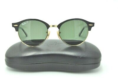 175f7804d6a Ray Ban RB 4246 CLUBROUND Sunglasses 901 58 Black Gold Frames   Green  Polarized