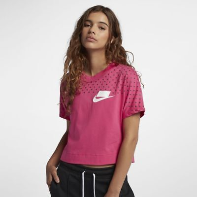 68116ddfe1a73f NIKE SPORTSWEAR WOMEN S Essential Crop Top Long Sleeve XL Pearl Pink ...