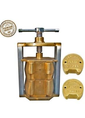 Dental denture flask laboratory compressor equipment compress upper lower brass