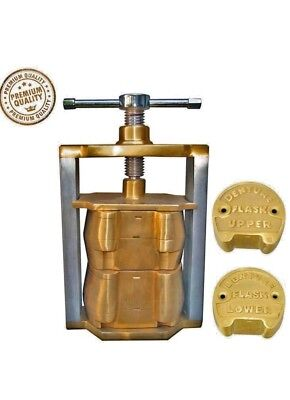 dental denure upper lower lab set press flasks original brass laboratory profess